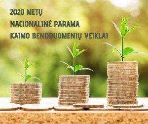 2020 METŲ NACIONALINĖS PARAMOS KAIMO BENDRUOMENIŲ VEIKLAI